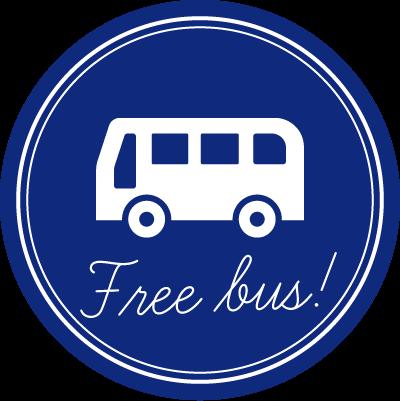 豊富な送迎バス